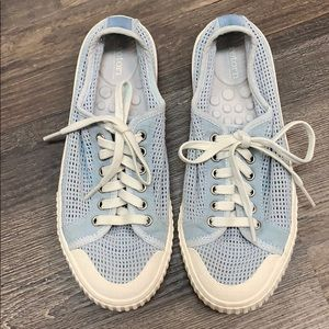 Restore light blue mesh sneakers size 6
